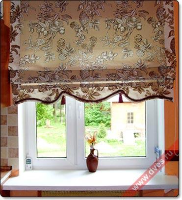 купить римские шторы на пластиковые окна фото